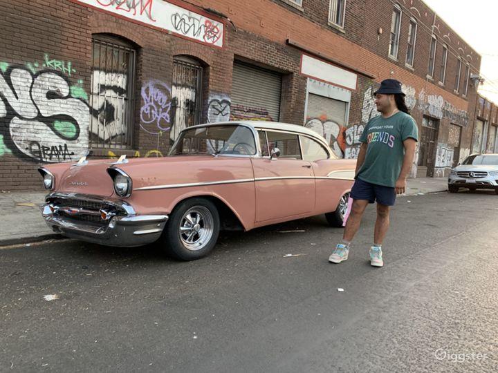1957 Chevrolet Bel Air. Coral Pink Classic Car Photo 2