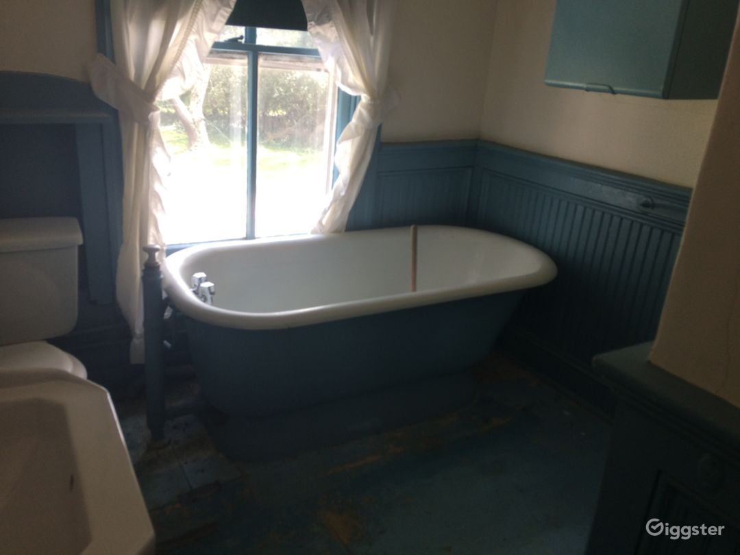 This is the bathroom. Completely original