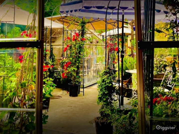 Outdoor and Glass House Dining Space for Events Photo 2