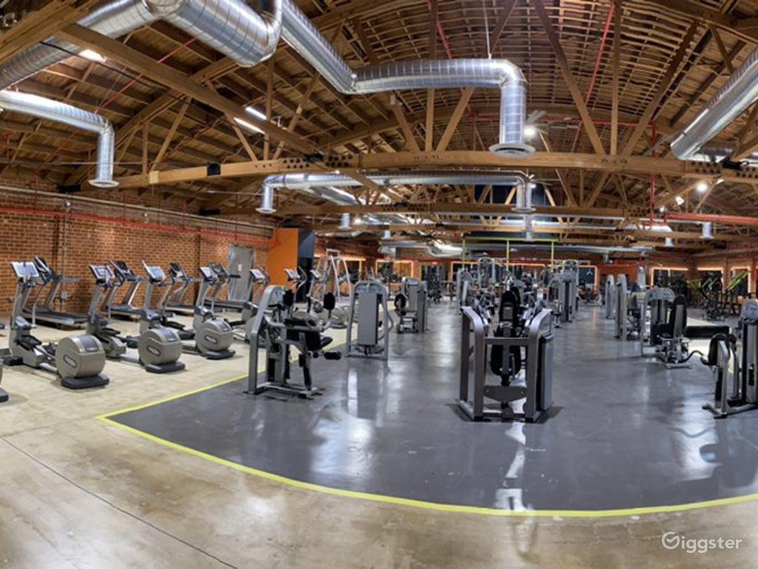 Beautiful Brick Walled Main Gym Area Photo 1