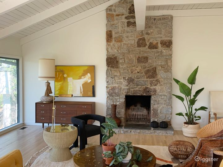 Main living room fireplace view