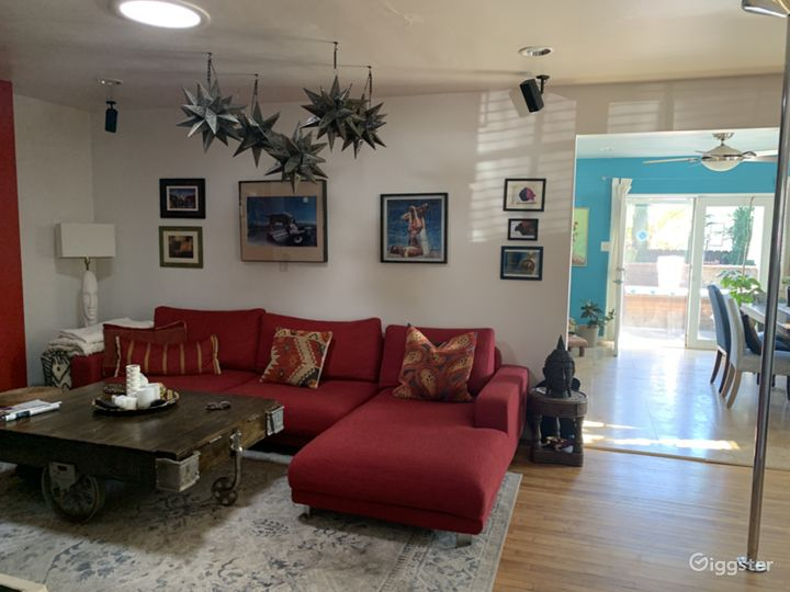 Eclectic, comfy home with exotic touches