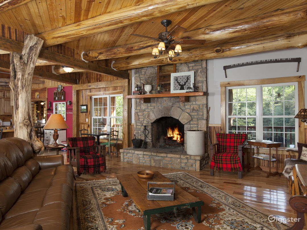 1 of 2 Wood Burning fireplaces creates a cozy relaxing fireside chat.