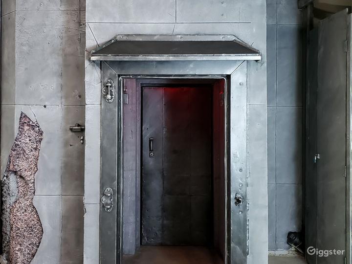 Vault door backdrop