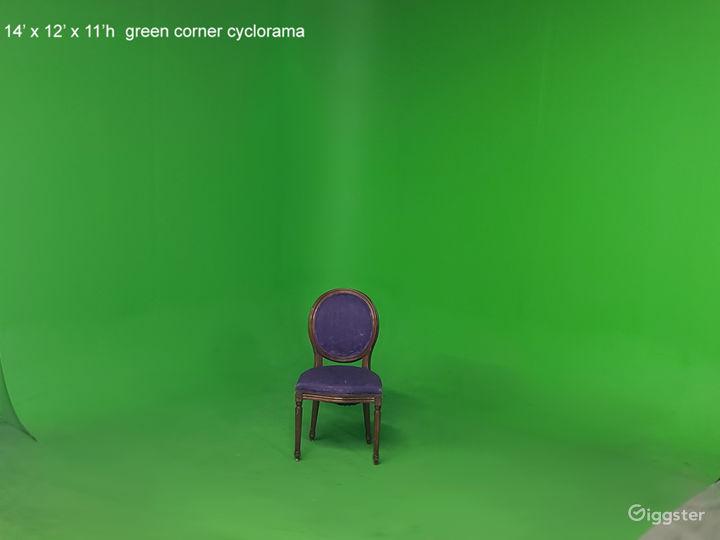 Green cyclorama