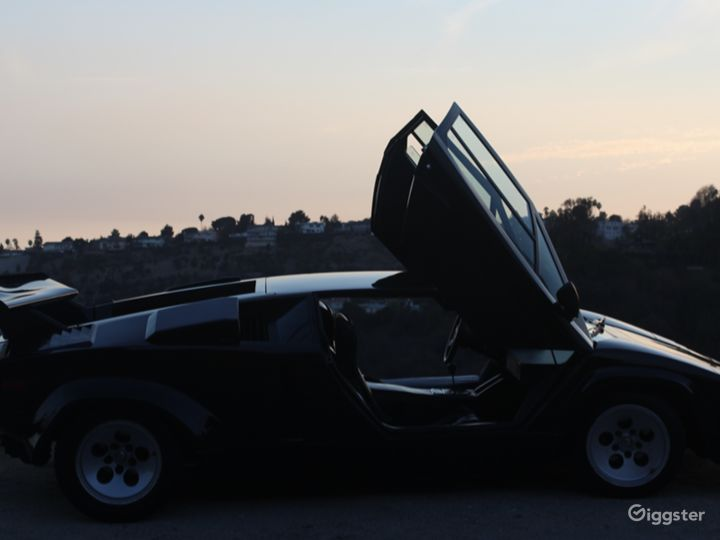 Black Lamborghini Countach Photo 4