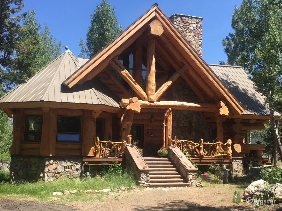 2500sf custom log home, secluded on 20 acres with views.