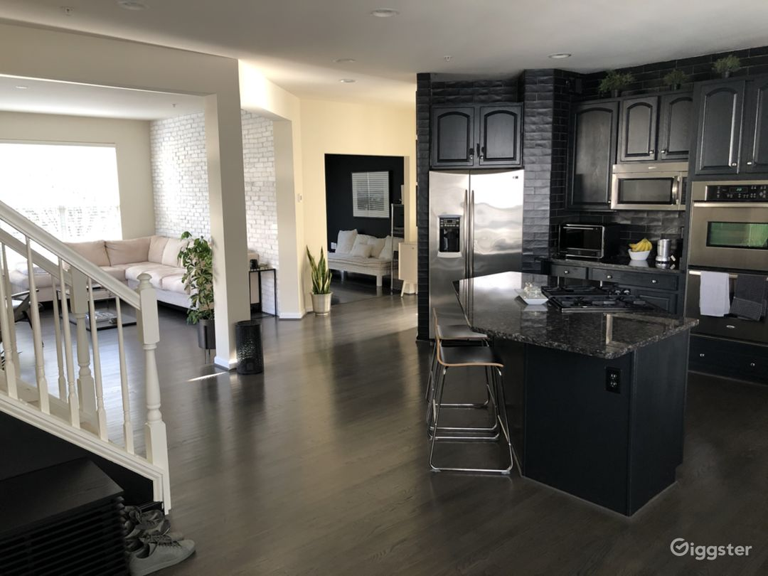 Kitchen and family room area
