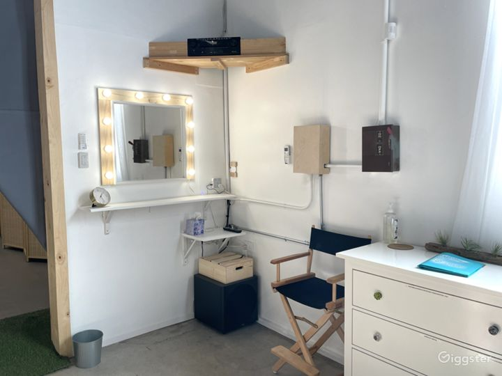 Vanity area in main studio