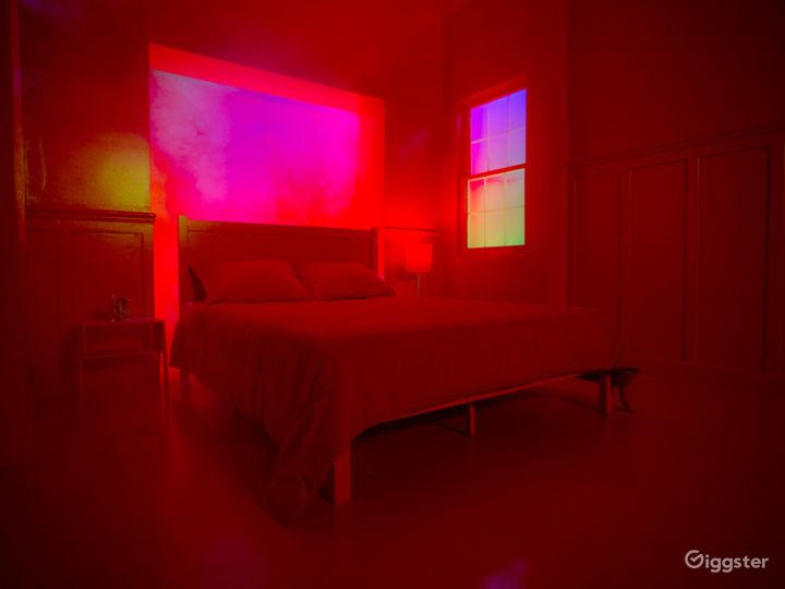 Music Video Red Bedroom Cube | CreatorLA Photo 5