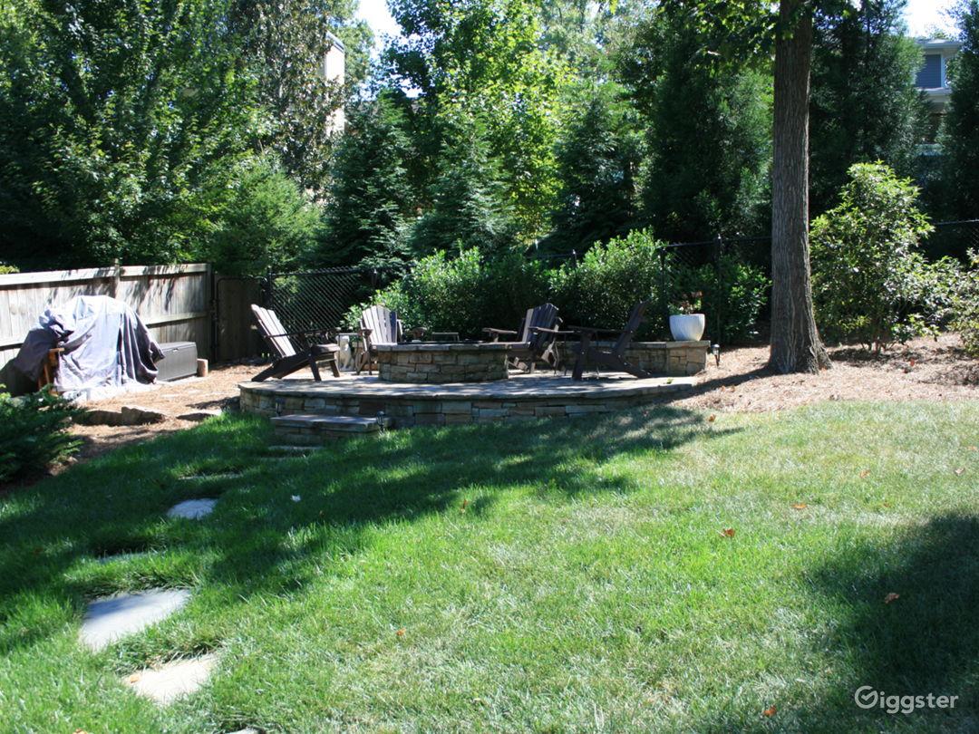 Backyard - Fire pit
