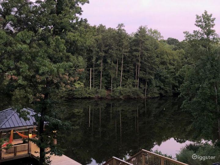 Gorgeous Wooden Lake Gazebo Photo 5