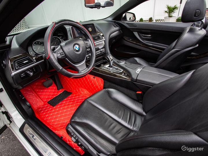 White BMW 640i convertible Photo 4