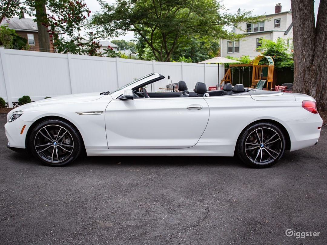 White BMW 640i convertible Photo 1
