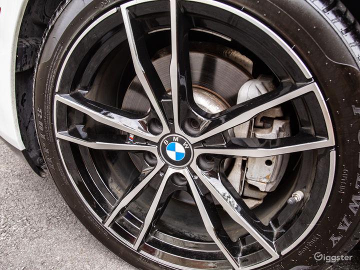 White BMW 640i convertible Photo 2