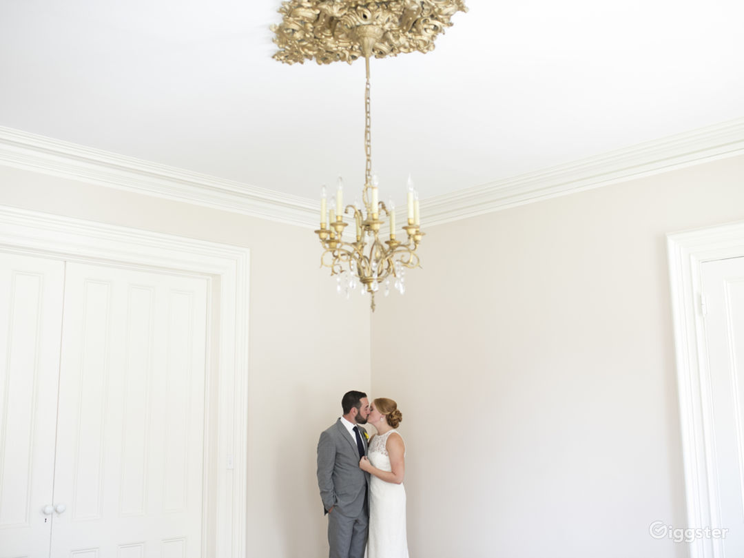 Dramatic, high ceilings and original chandeliers throughout
