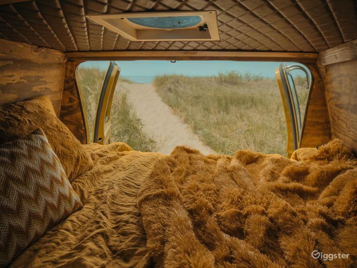 Mid Century Themed Vintage Camper Van Bus  Photo 5