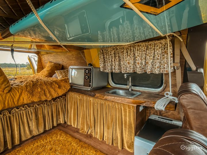 Mid Century Themed Vintage Camper Van Bus  Photo 4