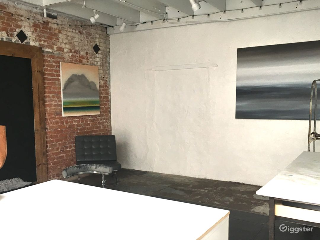 Art Studio/Gallery with moveable looks, great for shoots/interviews
