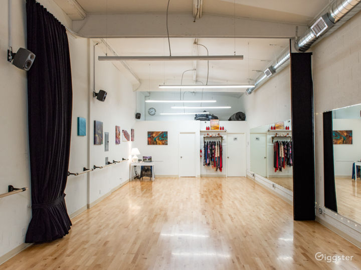 800Sqft dance studio available