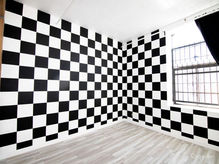 checkerboard wall