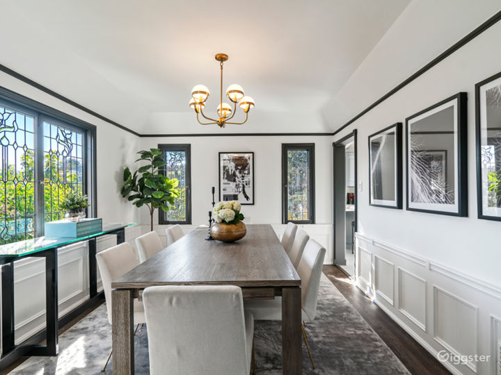 Formal dining room with old room charm