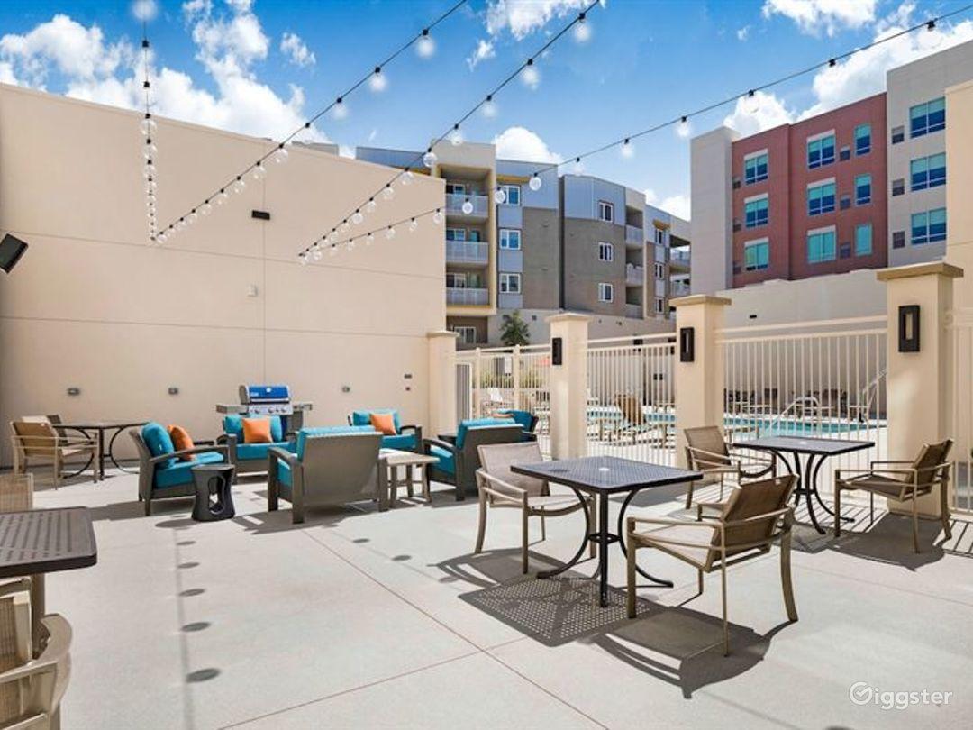 Delightful Patio and Pool Area in LA Photo 1