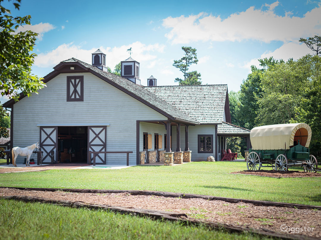 Our main horse stables - total property is 524 acres, 250+ woods/trails and 250+ grasslands
