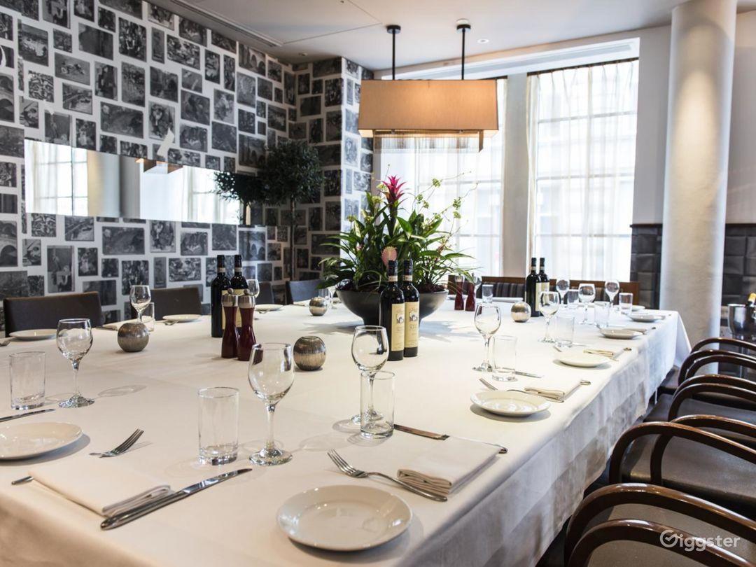 Private Room in an Italian Restaurant in Blackfriars, London Photo 1