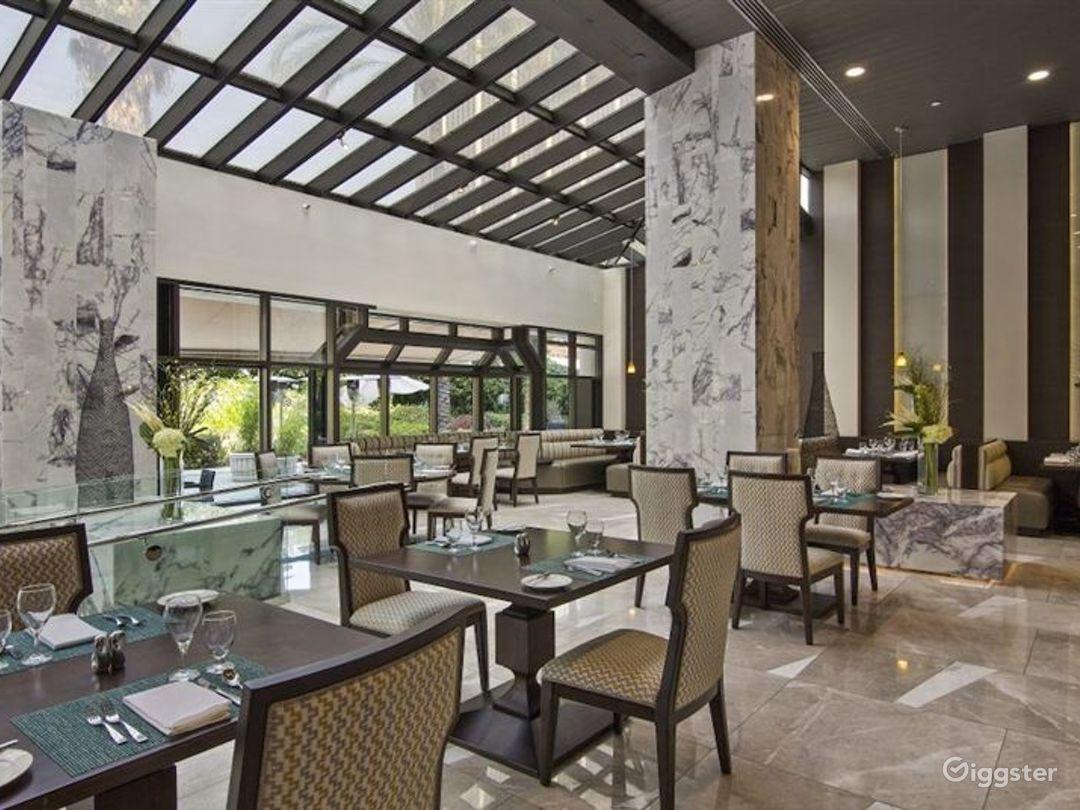 Beautiful Marble Hotel Lobby w Restaurant & Bar Photo 1