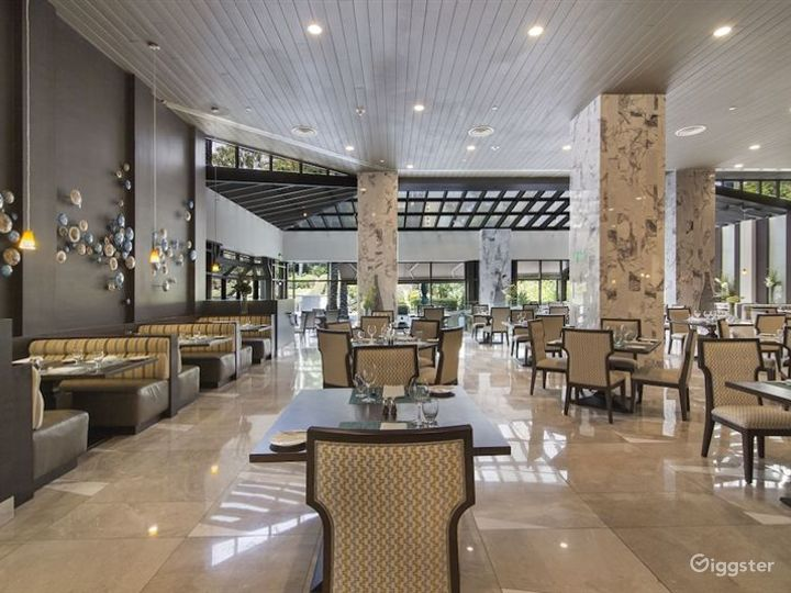 Beautiful Marble Hotel Lobby w Restaurant & Bar Photo 4