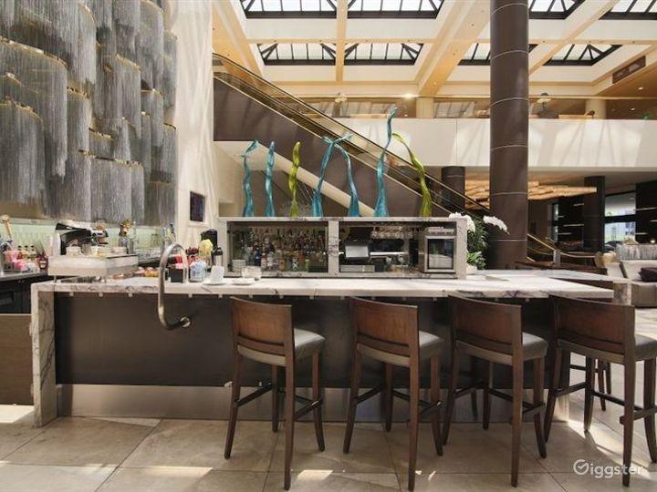 Beautiful Marble Hotel Lobby w Restaurant & Bar Photo 3