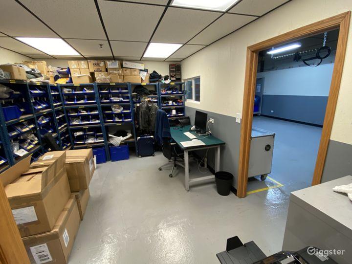 Parts supply room