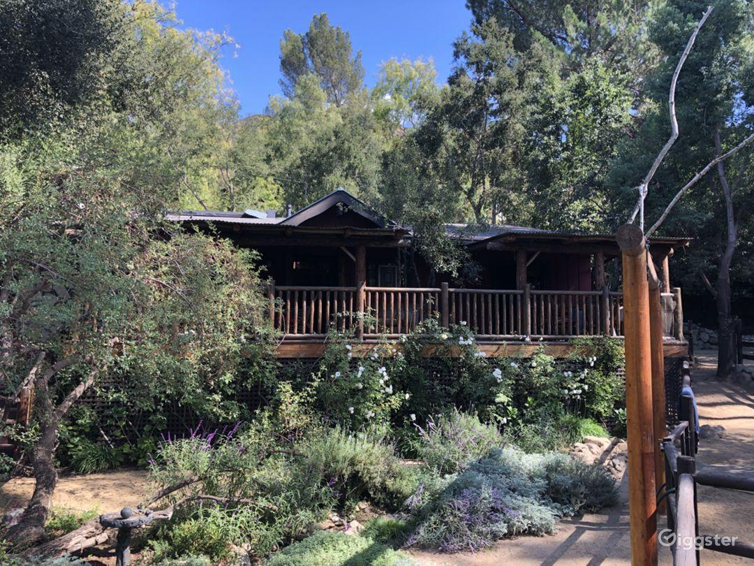 Malibu Canyon Log Cabin In Ranch Like Setting Photo 1