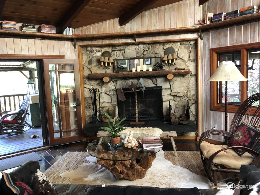 Malibu Canyon Log Cabin In Ranch Like Setting Photo 3