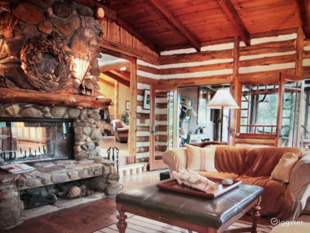 Malibu Canyon Log Cabin In Ranch Like Setting Photo 4