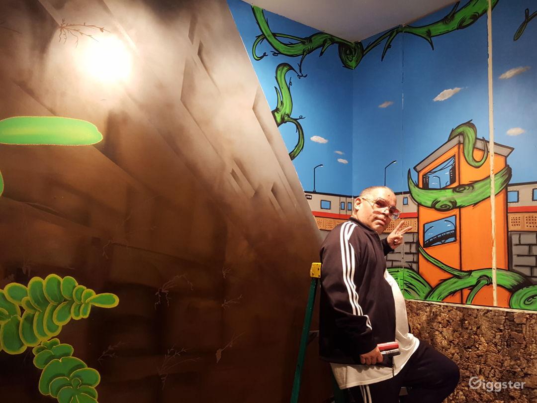 Mural of graffiti