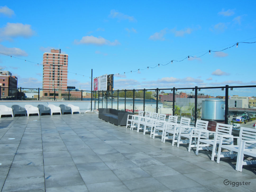 Rooftop Deck with Beautiful Skyline View Photo 1