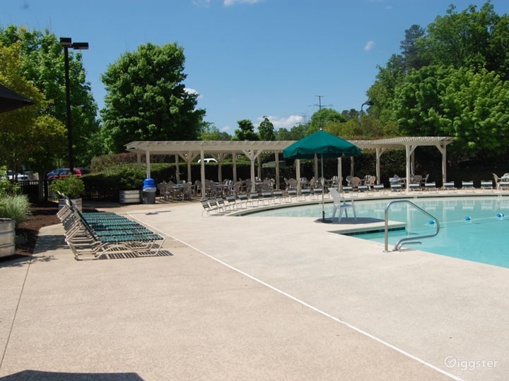 Poolside Event Space for Parties in Raleigh Photo 3