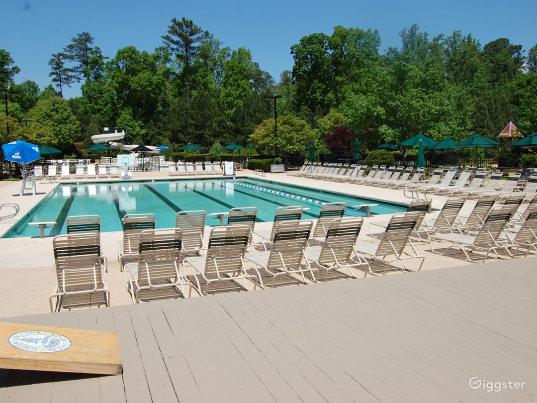 Poolside Event Space for Parties in Raleigh Photo 1
