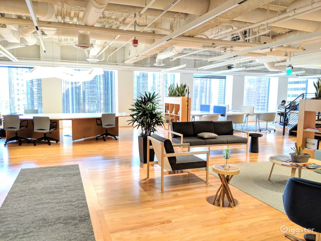 18the Floor: COMMON AREA: view from the reception area upon arrival