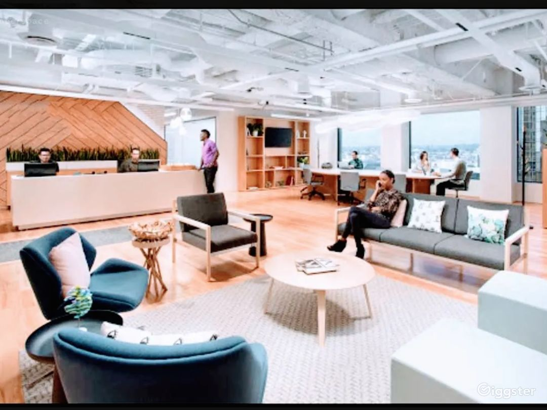 18th Floor: COMMON AREA: Reception Area, Open Common and Waiting Area
