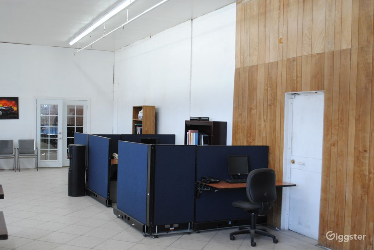 Rent The Office, Warehouse(commercial) Retro Office Standing Set Location  In LA For