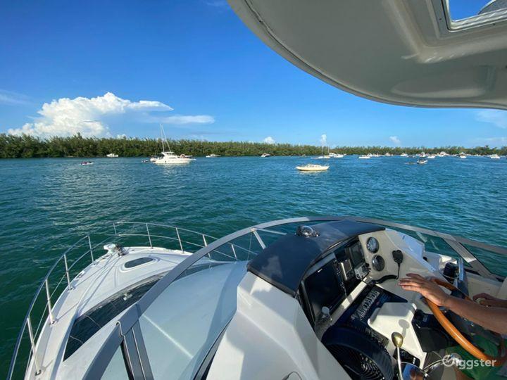 Glamourous 37FT Sea Ray Sedan Bridge Party Boat Space Events Photo 5