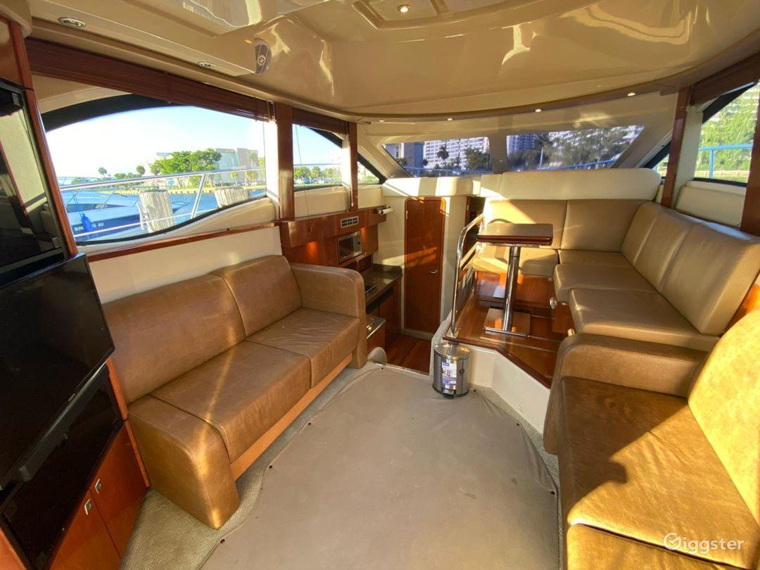 Glamourous 37FT Sea Ray Sedan Bridge Party Boat Space Events Photo 1