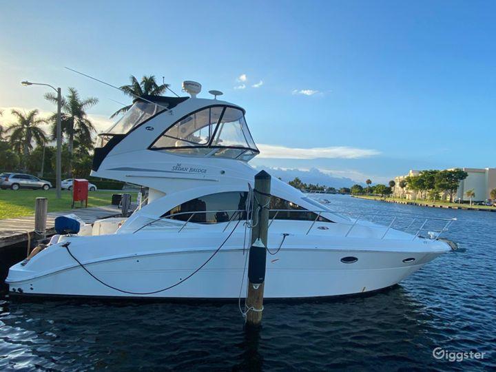Glamourous 37FT Sea Ray Sedan Bridge Party Boat Space Events Photo 4