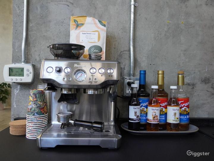 Espresso Machine in Kitchenette