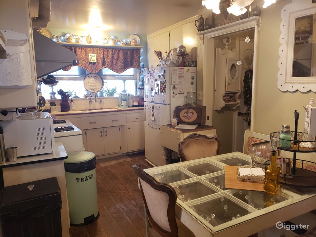 Retro kitchen w/original 1950's Gaffers & Sattler oven/hood.