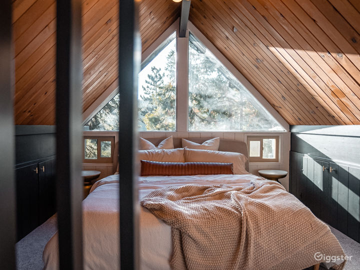 Black A-Frame Mid-Century Cabin in the Mountain Photo 4