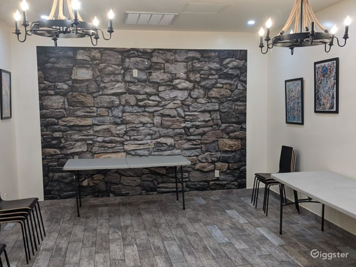 Rustic Party Hall with an Art Gallery NY